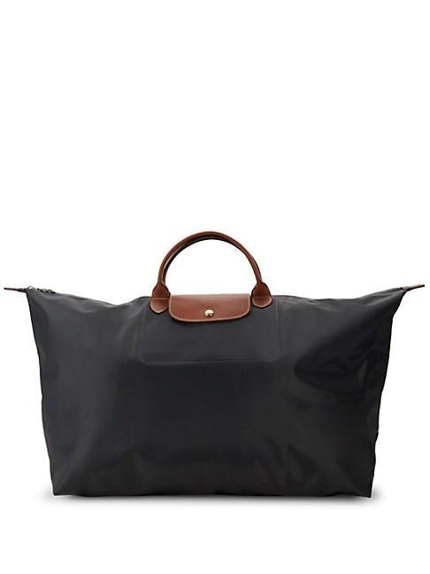 Longchamp Extra Large Le Pliage Travel Bag In Gunmetal
