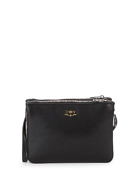 Zadig & Voltaire Clyde Leather Crossbody Bag In Black
