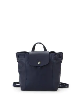 03e171dfd5fa Longchamp Le Pliage Cuir Leather Backpack In Navy
