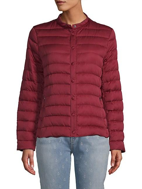 Weekend Max Mara Beber Quilted Jacket In Ruby