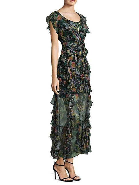 Alice Mccall Oh Oh Oh Floral Maxi Dress In Black Multi