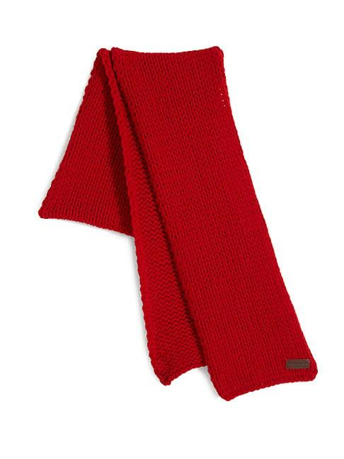 Dsquared2 Knit Wool Scarf In Red