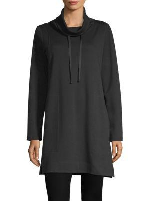 Eileen Fisher Organic Cotton Tunic In Black