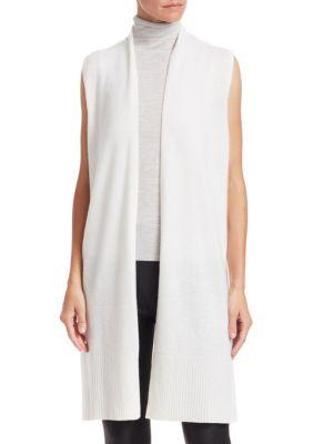 Saks Fifth Avenue Collection Cashmere Vest In Snow
