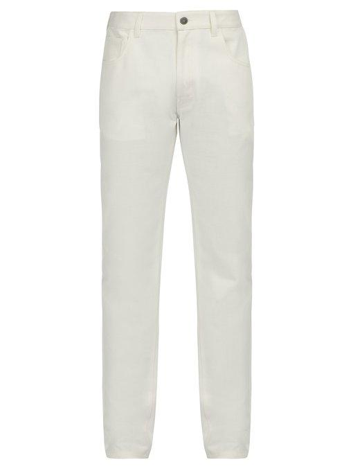 Raf Simons Straight-leg Jeans In White