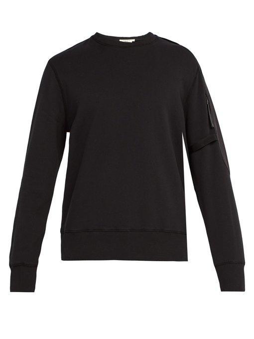 Alyx Sling Cotton Blend-jersey Sweatshirt In Black