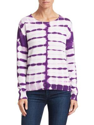 Scripted Tie-dye Cotton-cashmere Sweater In Violet