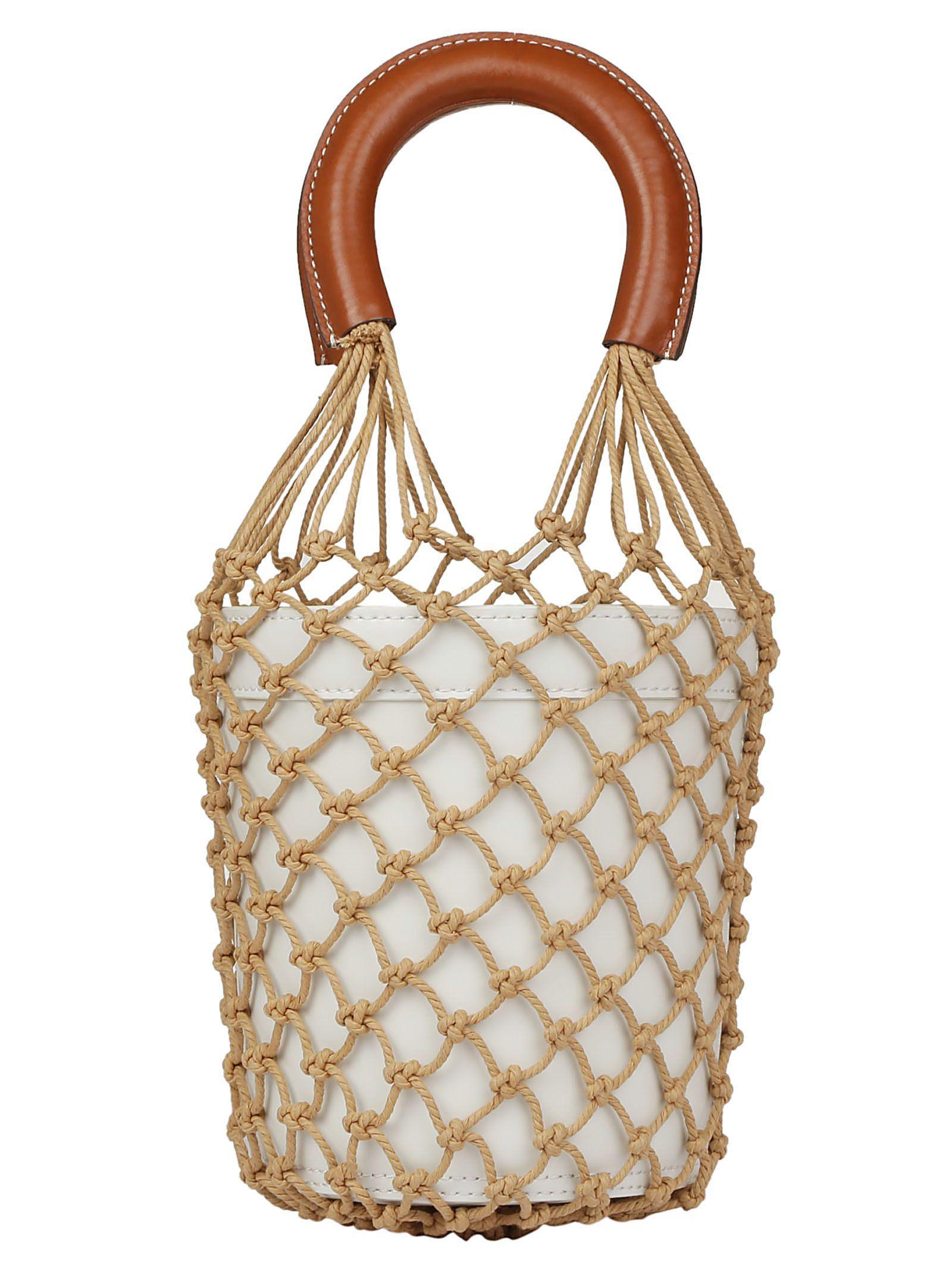 Staud Moreau Handbag In White/brown
