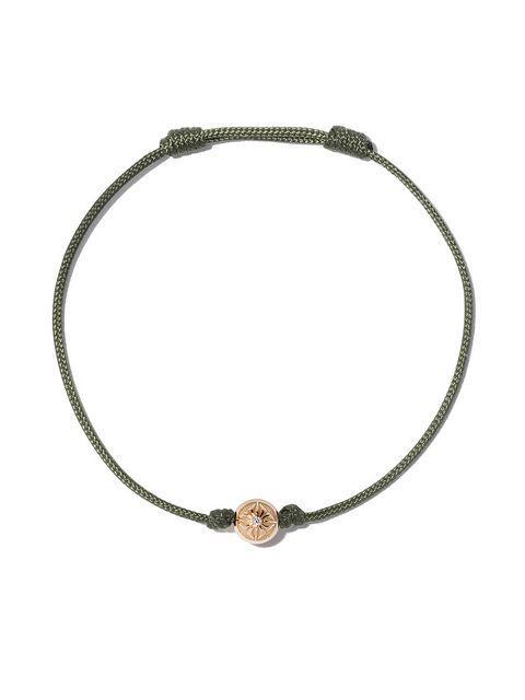 Shamballa Jewels Orb Bracelet In Yellow Gold, Olive