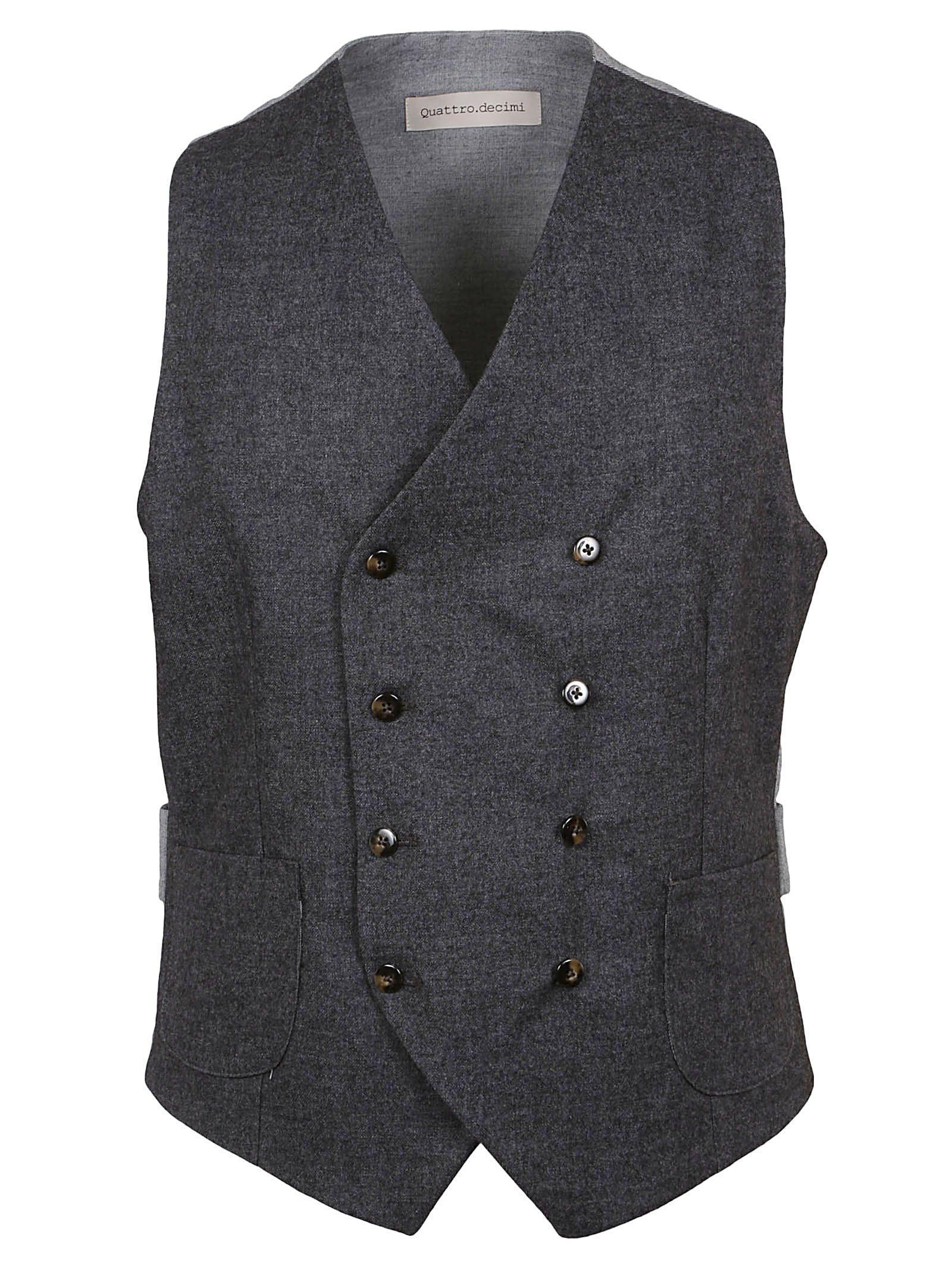 Briglia Double Breasted Vest In Grigio