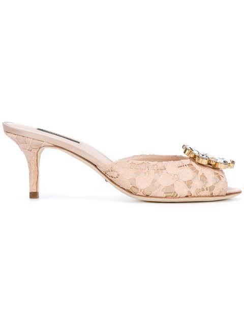 Dolce & Gabbana Keira Mules - Neutrals