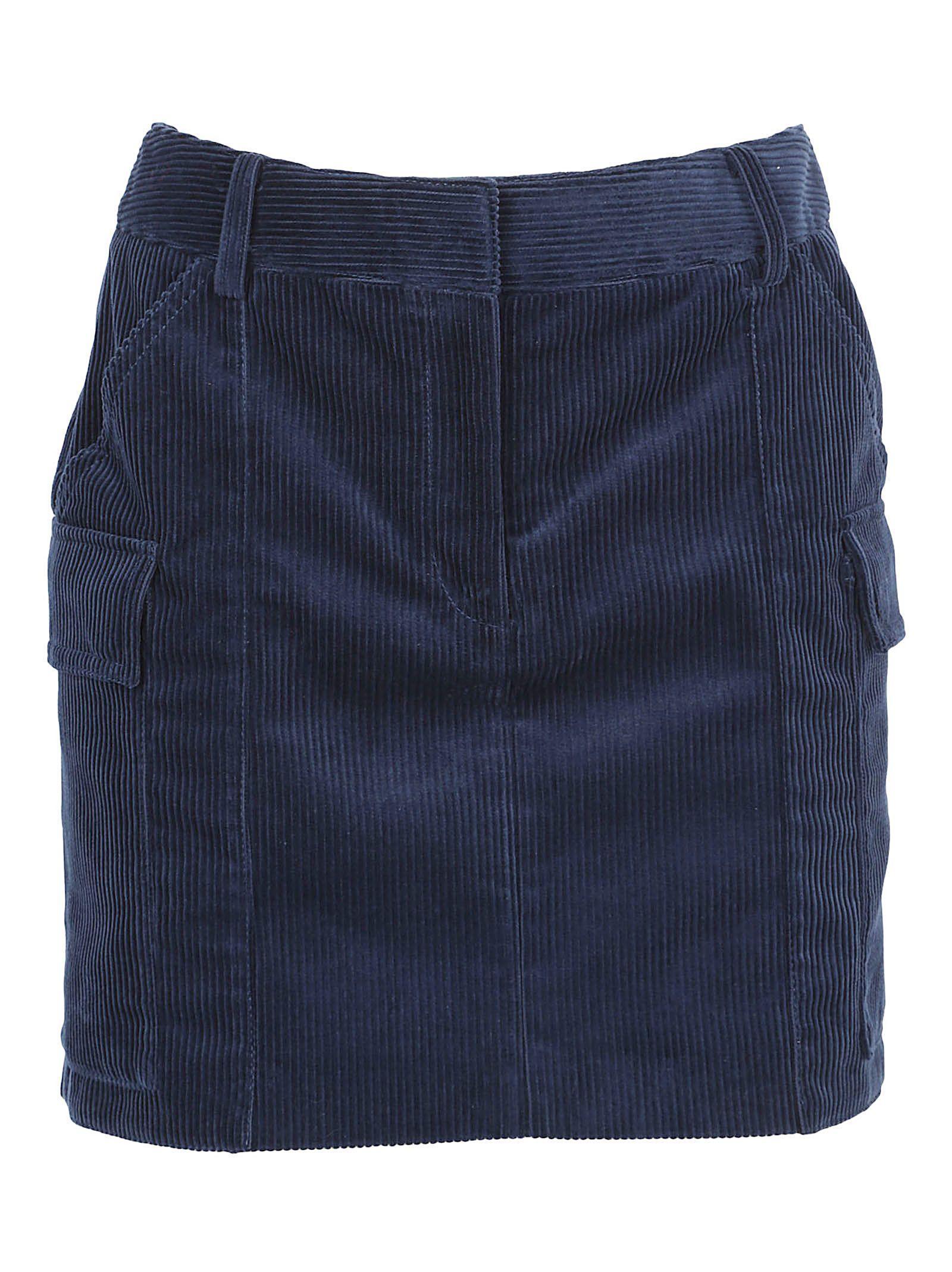 Stella Mccartney Skirt In Blue Stone