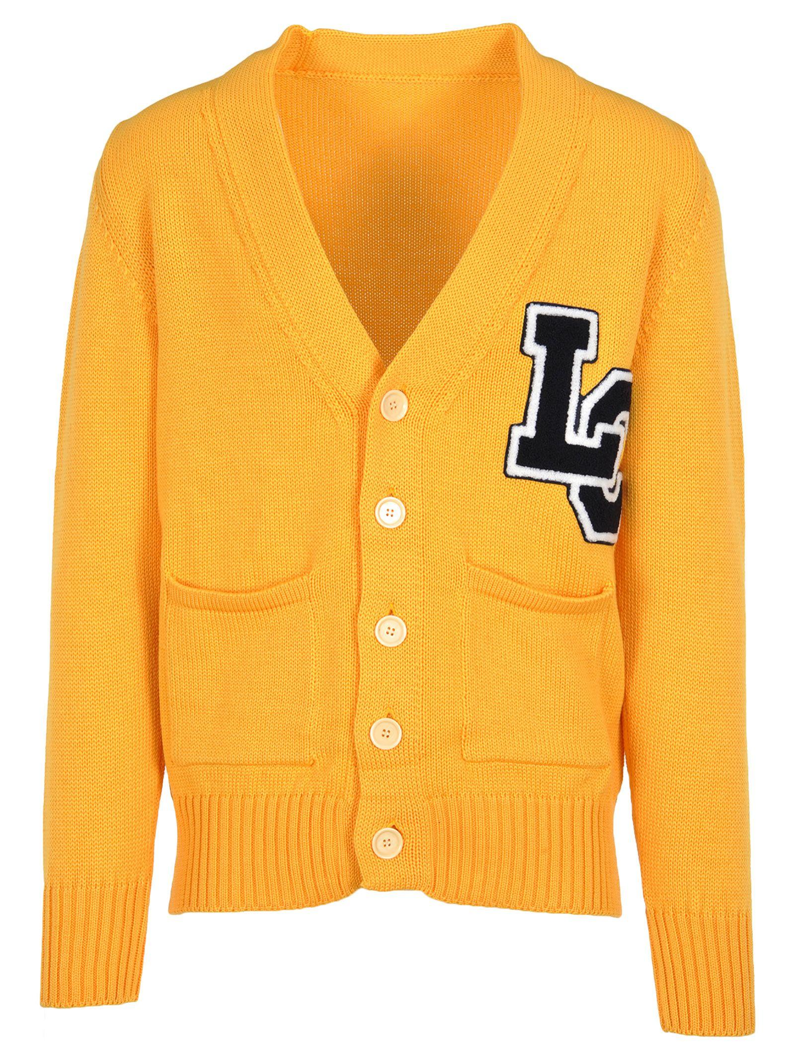 Lc23 Cardigan College In Yellow