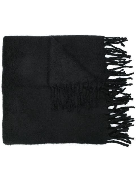 Cutuli Cult Oversized Fringed Scarf In Black