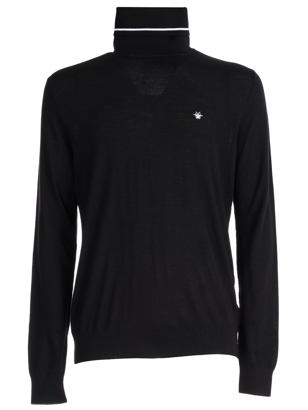 Dior Homme Logo Embroidered Sweater In Black