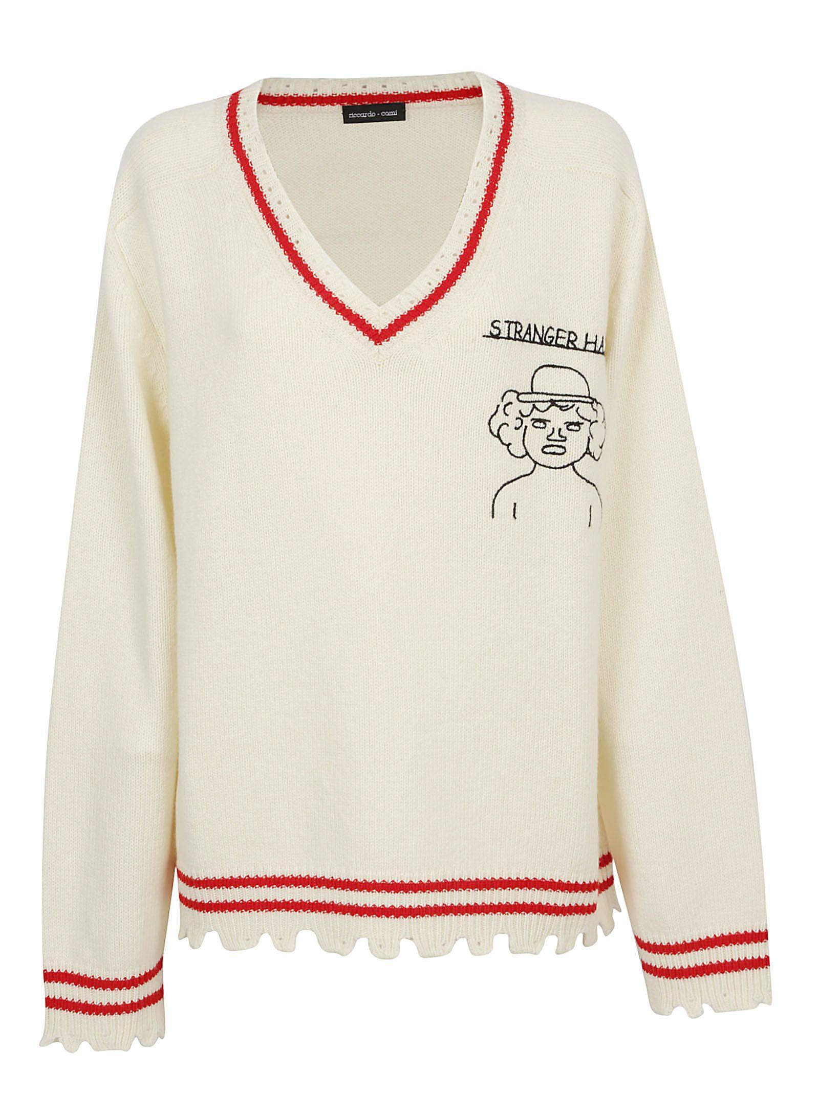 Riccardo Comi Knitwear In Arpa/rosso/inchiostro