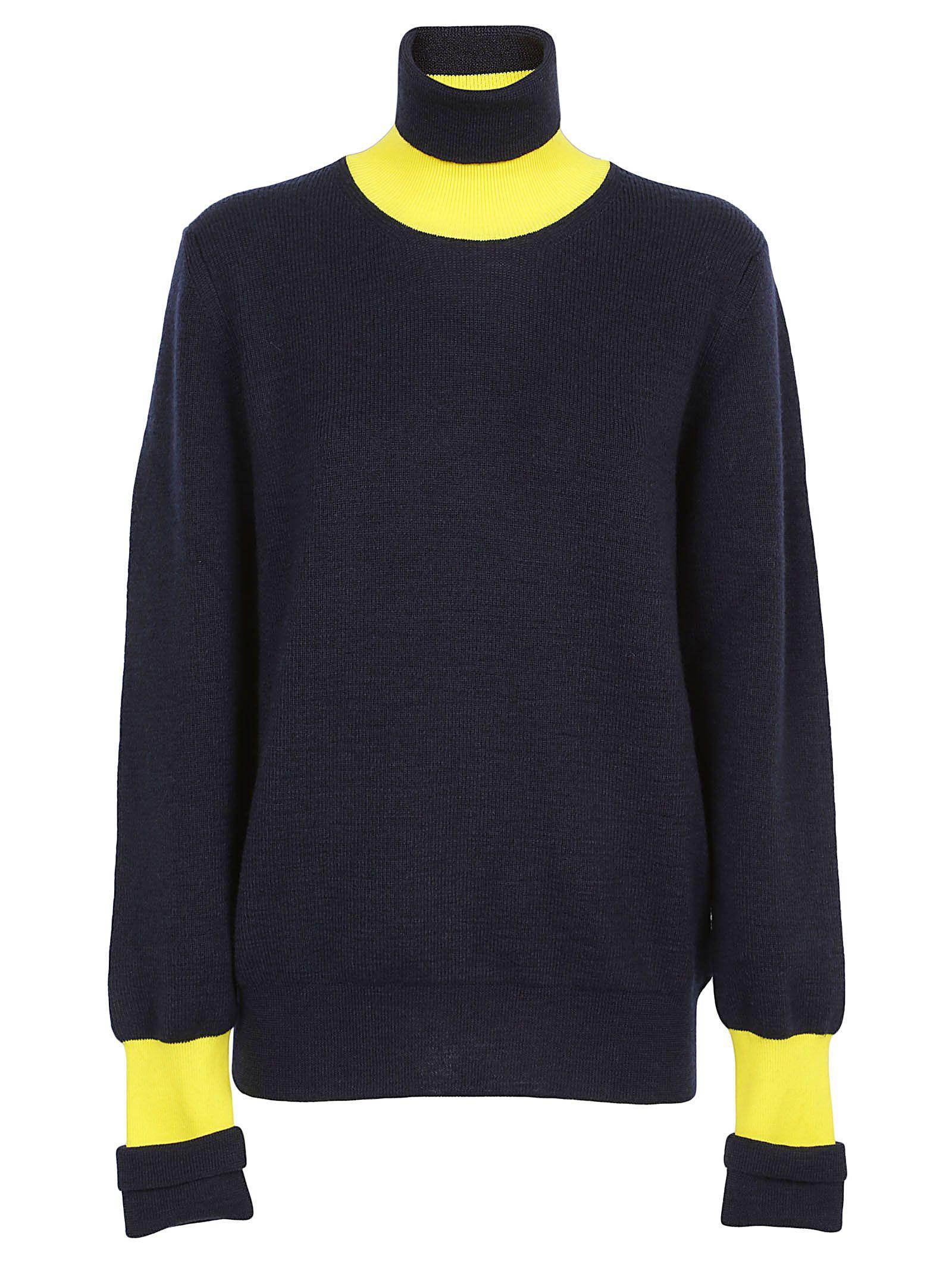 Maison Margiela Knitwear In Blue/yellow