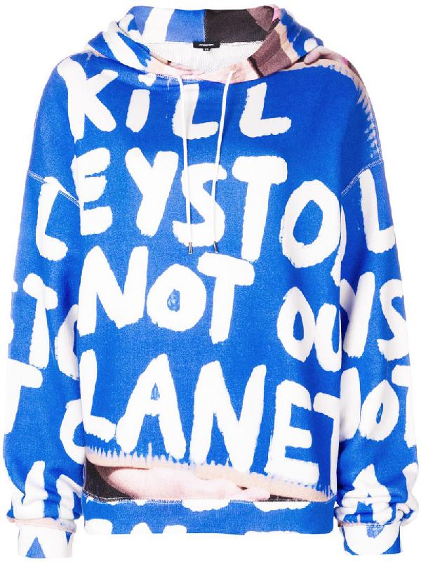 R13 Kill Keystone Oversized Hoodie In Blue