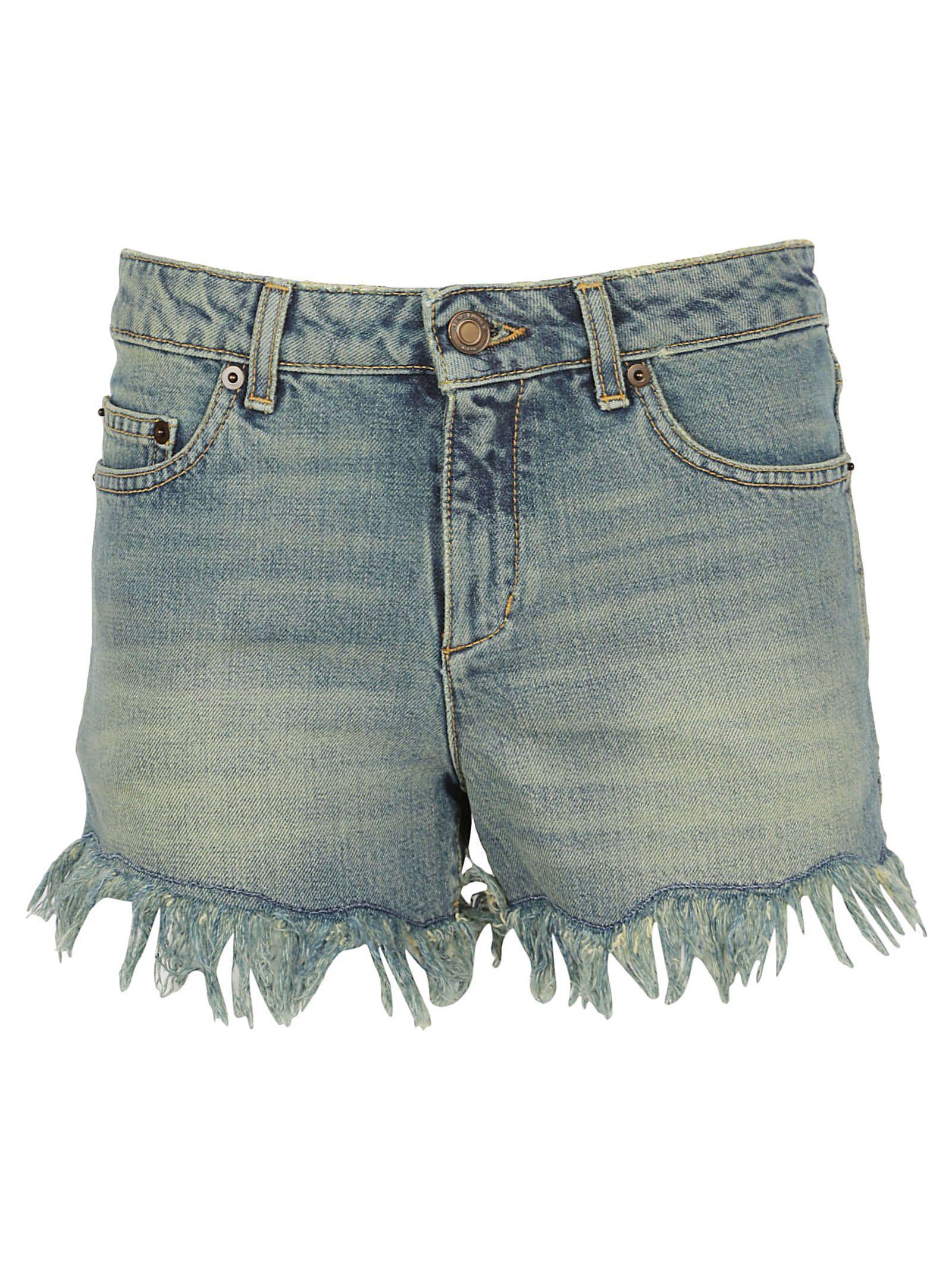 Saint Laurent Shorts In Rusty Blue