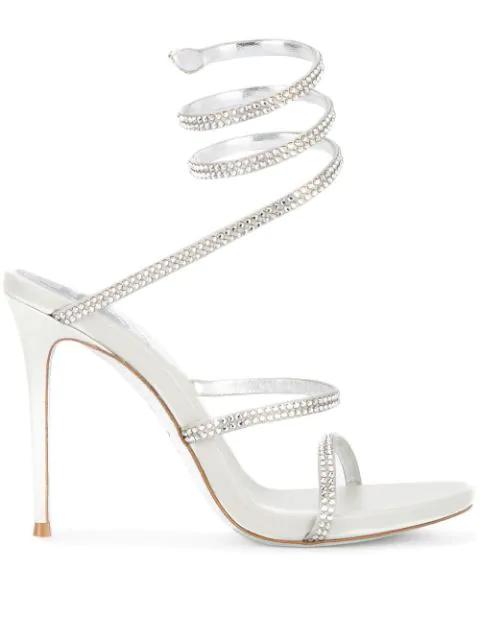 RenÉ Caovilla Cleo Sandals In Metallic