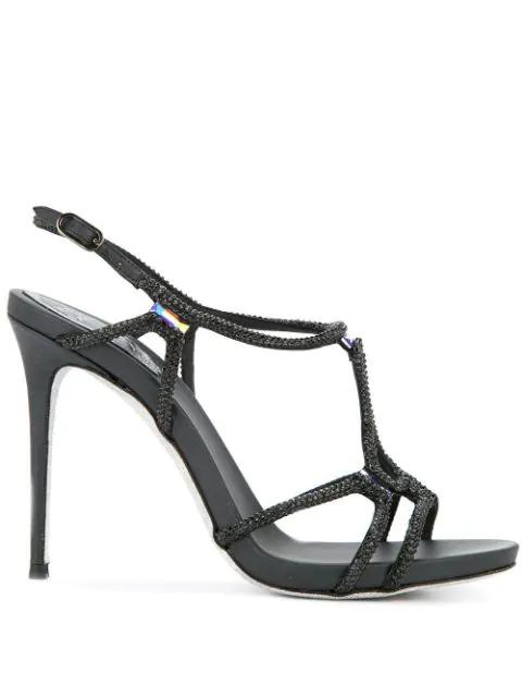 RenÉ Caovilla Selina Sandals In Black