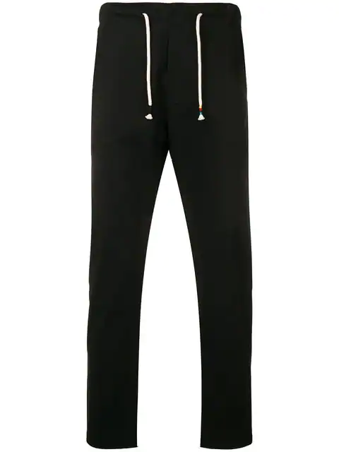 The Silted Company Stripe Trim Trousers - Black