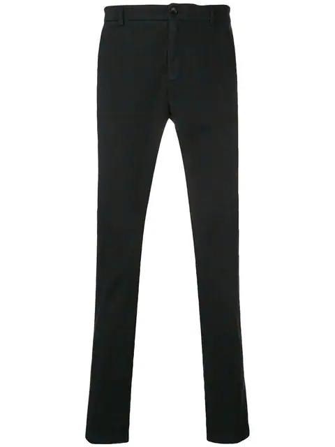 Department 5 Checked Slim-fit Trousers In Blue