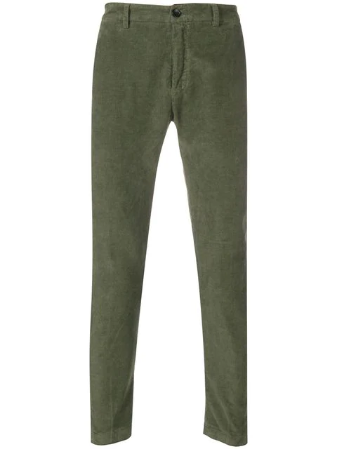Department 5 Corduroy Skinny Trousers In Green