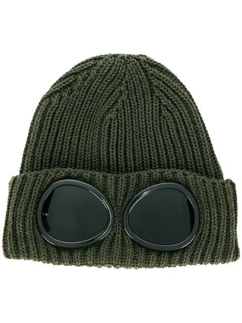 C.p. Company Cp Company Glasses Knit Cap - Green