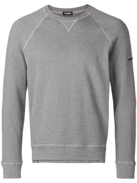 Dsquared2 Basic Sweatshirt - Grey In 灰色