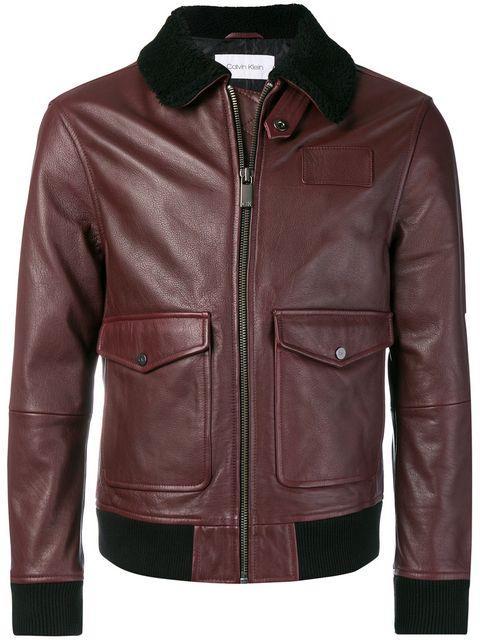Calvin Klein Biker Jacket - Red