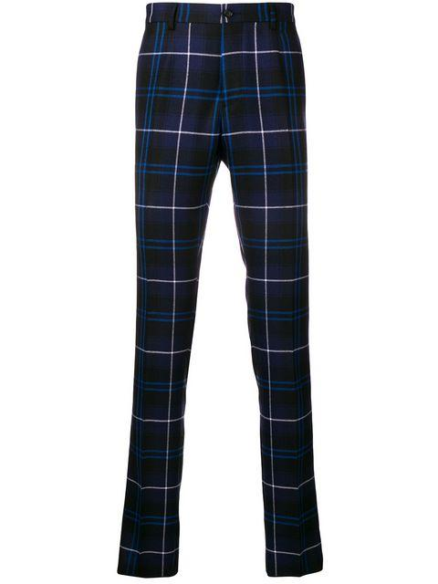 Versace Check Casual Trousers - Black
