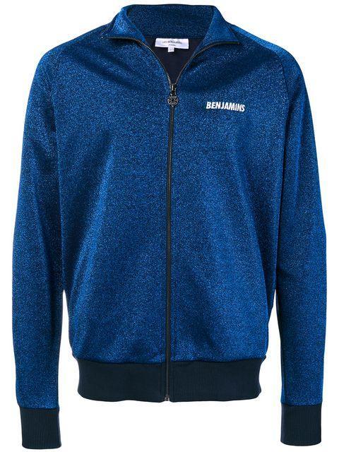 Les Benjamins Logo Zipped Jacket - Blue