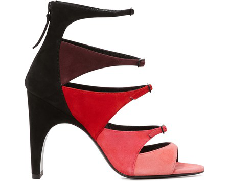 Pierre Hardy Lula Color-Block Heeled Sandals In Pink