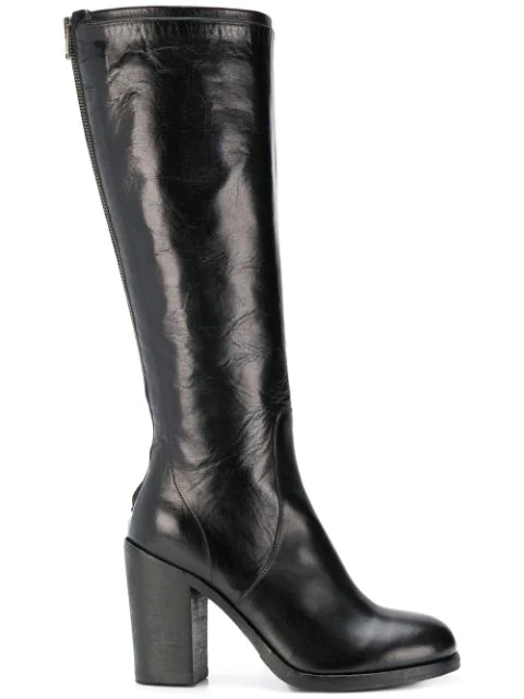 Pantanetti Knee Length Boots - Black