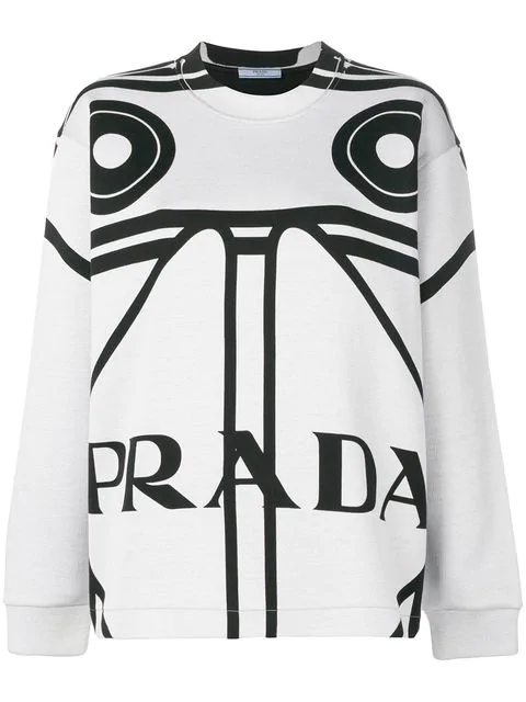 Prada Printed Sweatshirt - White