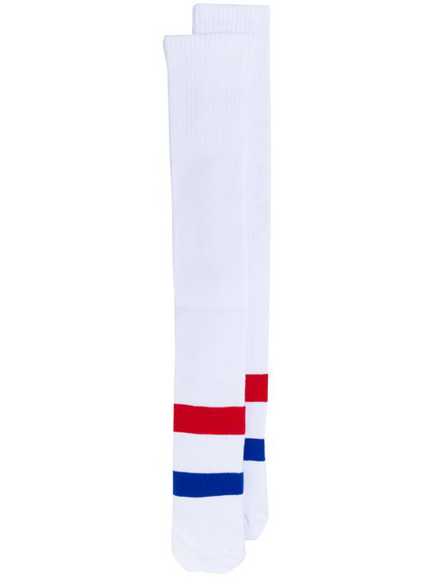 Champion Striped Detail High Socks - White