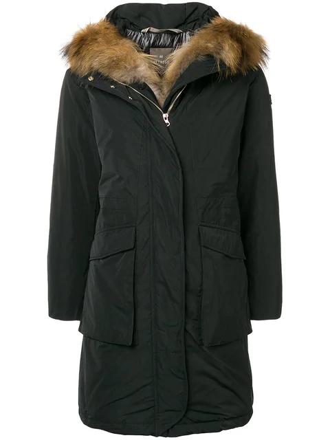 HetregÒ Fur Trimmed Coat - Black