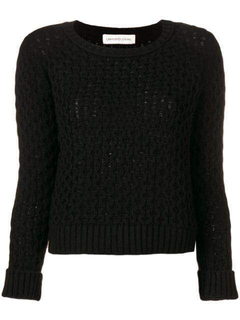 Lamberto Losani Knitted Jumper - Black