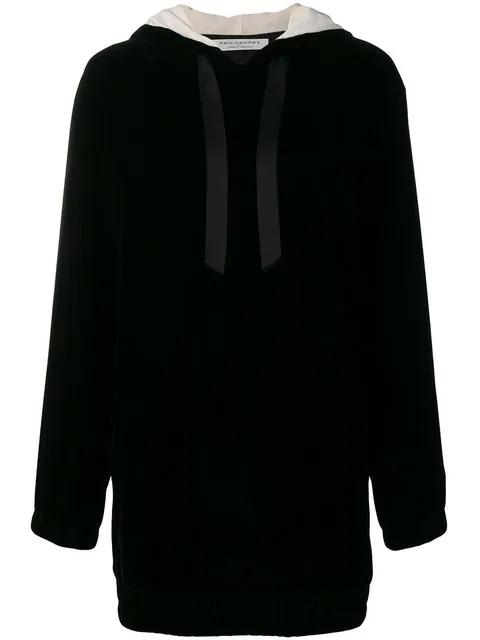 Philosophy Di Lorenzo Serafini Kleid Mit Kapuze In Black