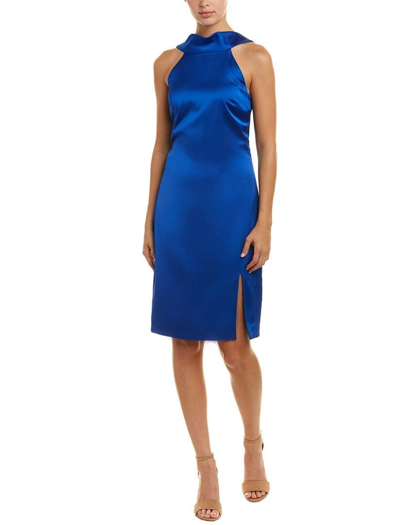 Reiss Mina Sheath Dress In Blue