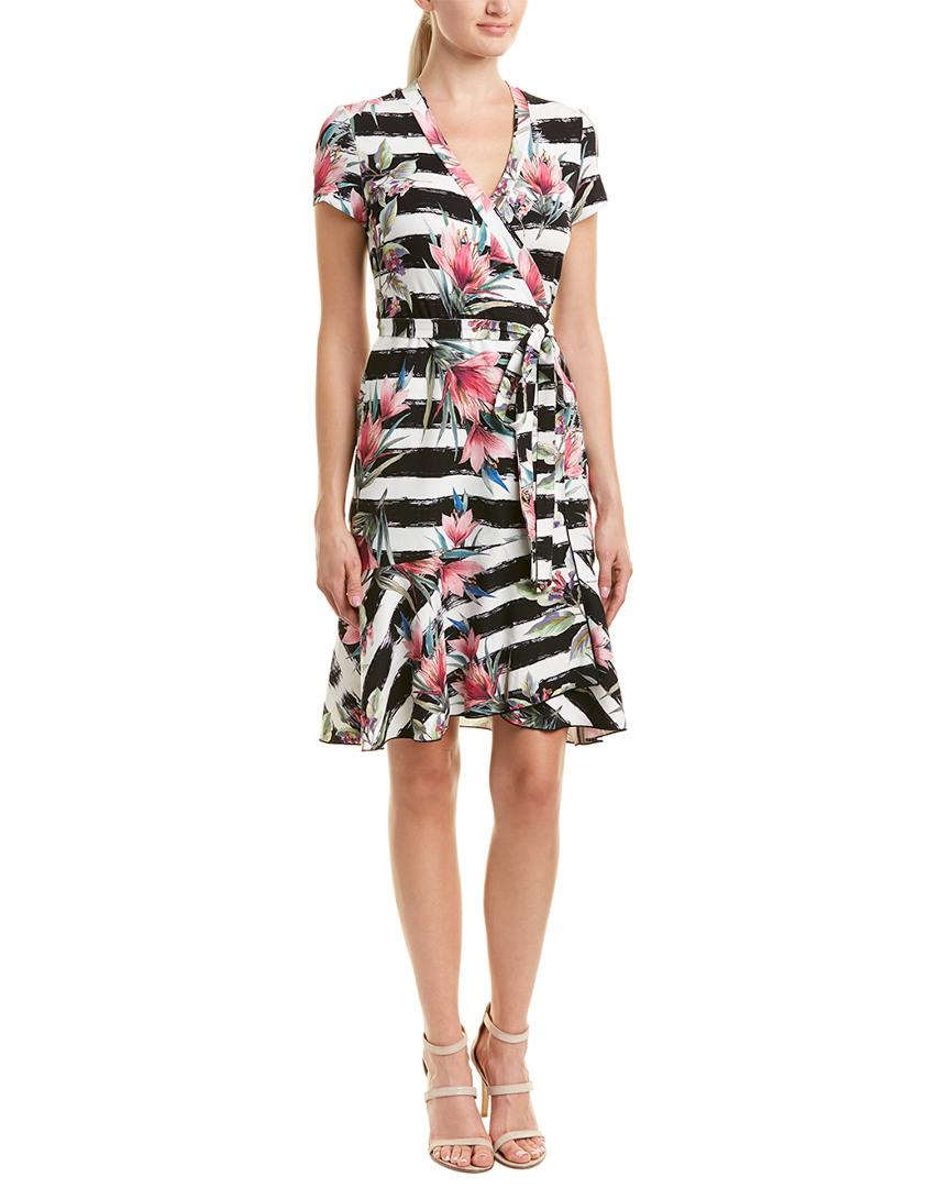 Nicole Miller Wrap Dress In Nocolor