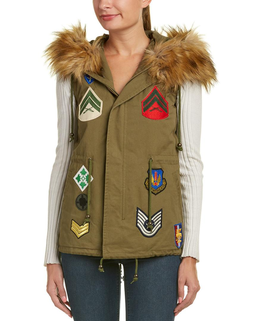 Bagatelle Patched Vest In Green