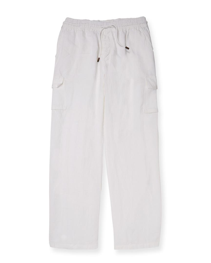 Vilebrequin Solid Linen Pant In Nocolor