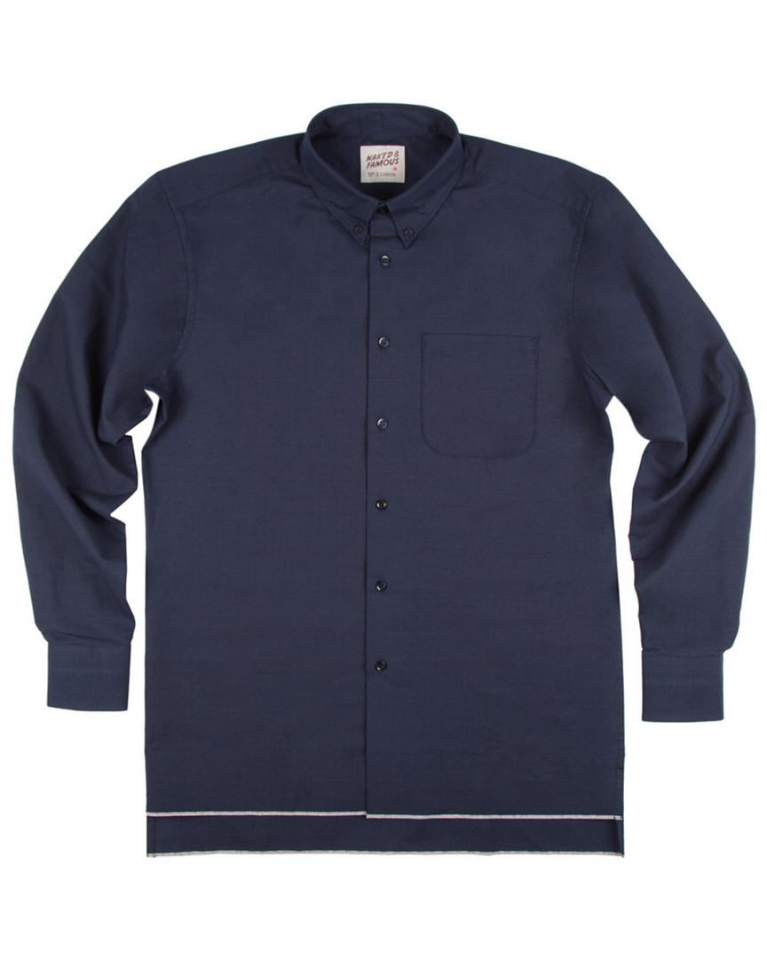 Naked & Famous Selvedge Ripstop Sportshirt In Nocolor