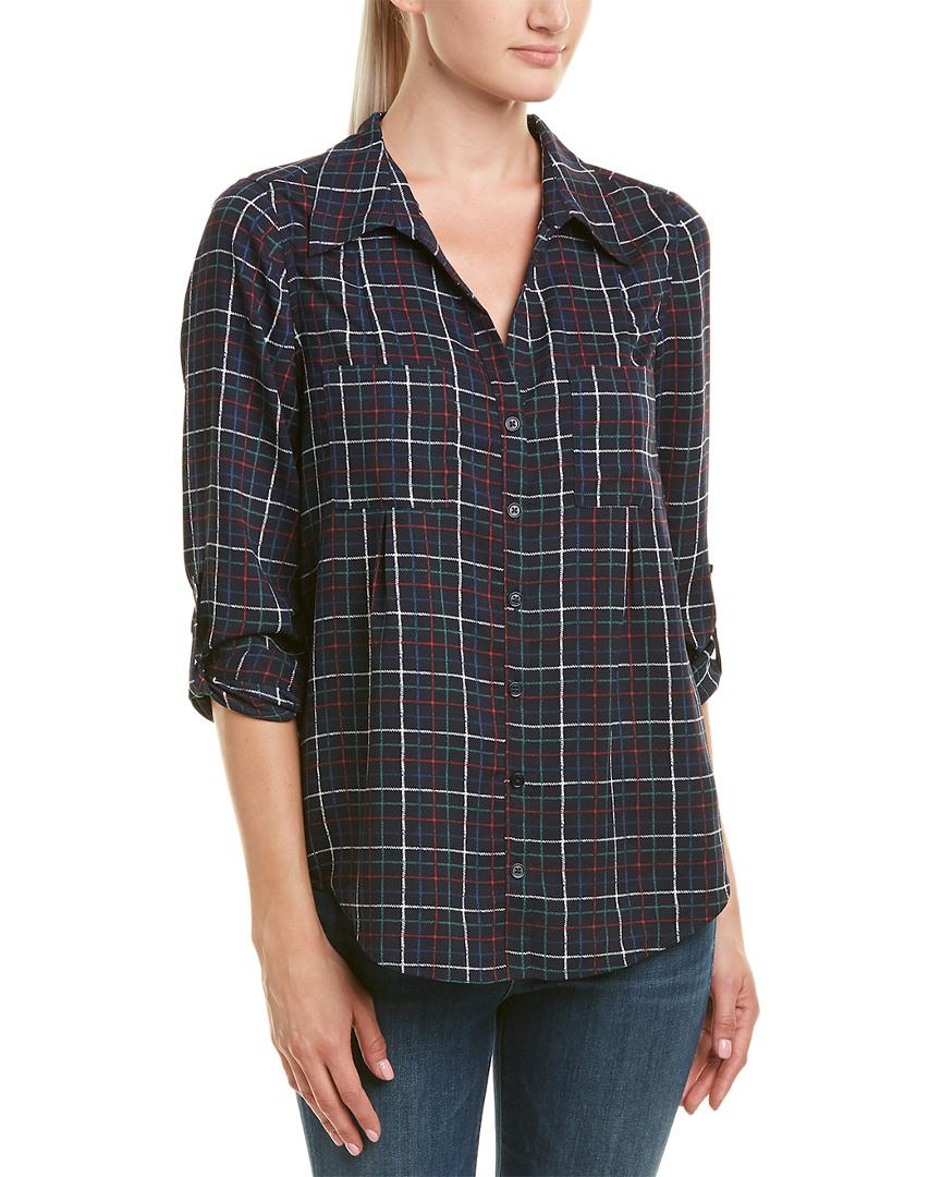 Joie Plaid Top In Blue