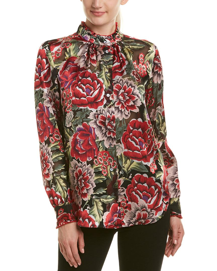 Reiss Riess Ruth Blouse In Red