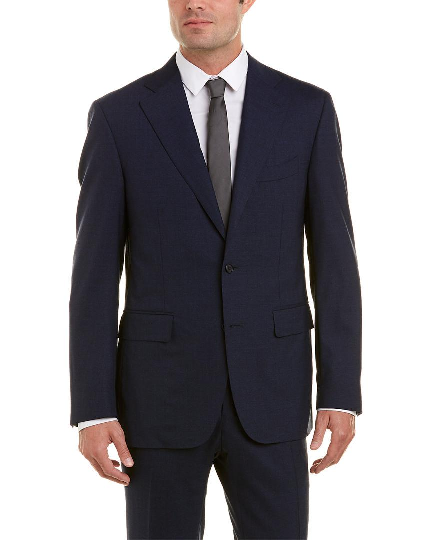 Canali Wool Suit In Blue