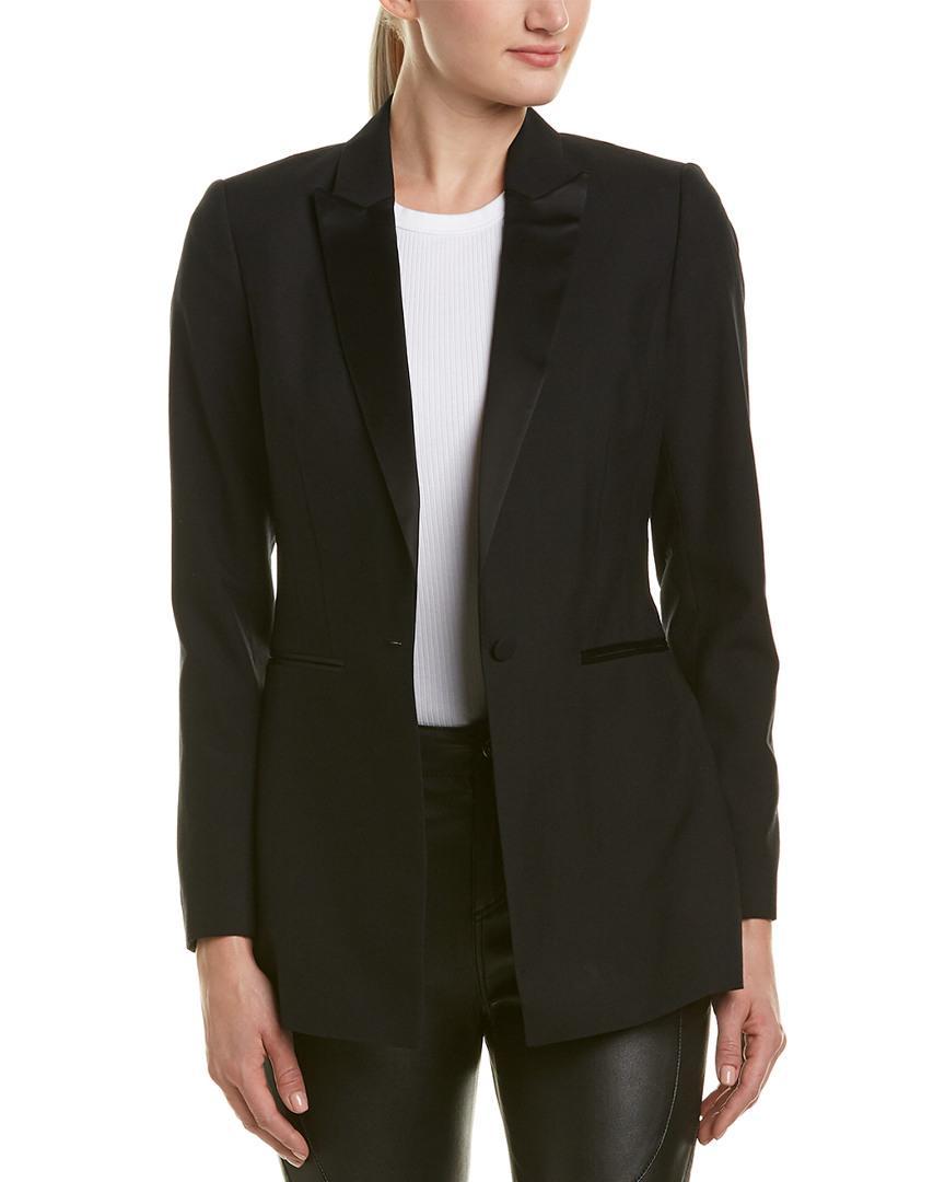 Reiss Rockie Wool Blazer In Black