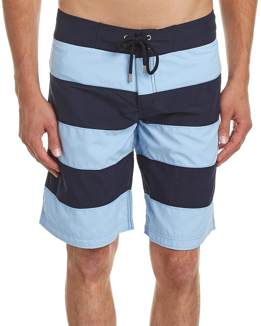 Vilebrequin Octant Swim Trunk In Blue